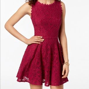 *NWT* City Studios Lace Fit & Flare Dress